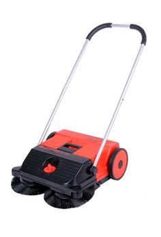 Haaga Rotary Brush Sweeper for outdoors: Haaga sweeper with two rotating brushes