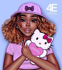 Black Love Art, Black Girl Art, Black Is Beautiful, Black Girl Magic, Black Girls, Art Girl, Beautiful Ladies, Black Girl Cartoon, Girl Artist