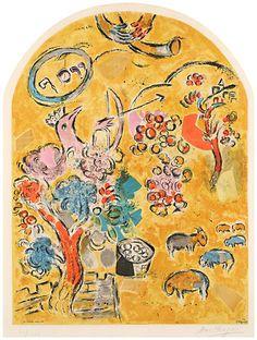 """Jerusalem Windows: The Tribe of Joseph"" by Marc Chagall"
