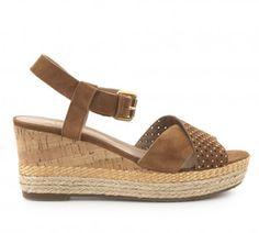 Sandalia cuña piel FOSCO COLLECTION Outlet, Espadrilles, Wedges, Sandals, Shoes, Fashion, Winter, Fur, Summer Time