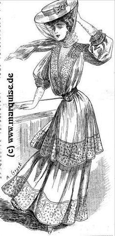 Beach Dress, 1907