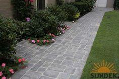 Stamped concrete walkway -next home improvement job