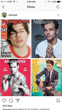 all my boys have their own magazine covers now :,)
