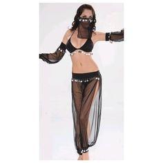 WD Lingerie - FANCY DRESS ARABIAN DANCER COSTUME / BLACK BELLY DANCER... via Polyvore