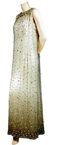Balenciaga Rhinestone Embroidered Gown, mid-1960s
