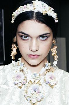 ISABELLA MELO, BACKSTAGE, DOLCE AND GABBANA, FALL 2012