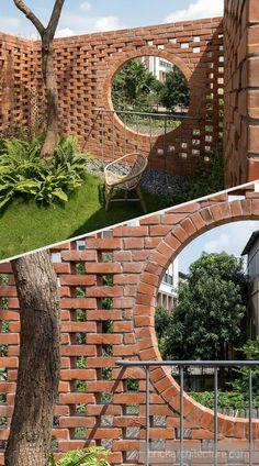 Brick Building, Building Design, Brick Design, Exterior Design, Rosen Beet, Brick Wall Decor, Brick Projects, Brick Works, Brick Art