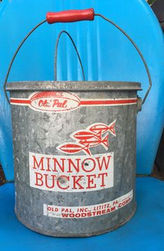 A personal favorite from my Etsy shop https://www.etsy.com/listing/519543398/old-pal-vintage-galvanized-minnow-bucket