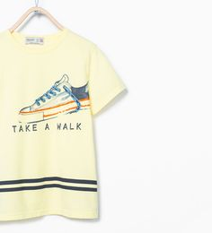 Image 1 of Sneaker print t-shirt from Zara