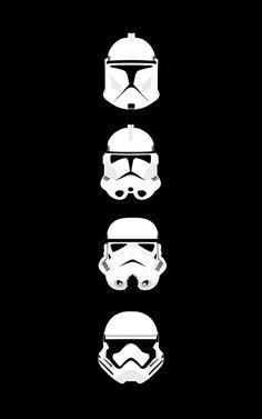 four Star Wars Storm Trooper helmet illustration Star Wars clone trooper portrait display Star Wars Fan Art, Clone Trooper Helmet, Star Wars Helmet, Tattoos Mandala, Tattoos Geometric, Star Wars Pictures, Star Wars Images, Star Wars Poster, Star Wars Clone Wars