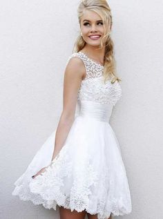 Dresses Browse through cute white dresses for confirmation for prom! Prom Dresses feature more sophisticated glamour and elegance than ever. Civil Wedding Dresses, Stunning Wedding Dresses, Beautiful Gowns, Cute White Dress, Little White Dresses, Bridesmaid Dresses, Prom Dresses, Formal Dresses, Bat Mitzvah Dresses