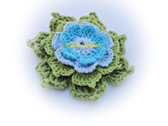 Cindy Crochet Flower by mariamanuel on Etsy