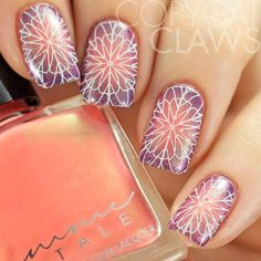 Radial Ombre Nail Art With Stamping ❤️ Over 30 Spicy Ombre Nails Transitions To Try! ❤️ See more: naildesignsjourna. Ombre Nail Designs, Colorful Nail Designs, Nail Art Designs, Red Ombre Nails, Umbre Nails, Gel Nails, Acrylic Nails, Strong Nails