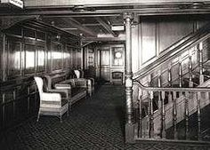 Titanic: Staircase for the 2nd class  Second class passenger accommodation was to be found over seven decks. Exits were either by the second class grand stairway or an electric elevator which ran up and down all seven decks.