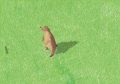 """草原 """"Grassland"""" #illustration #animal"""