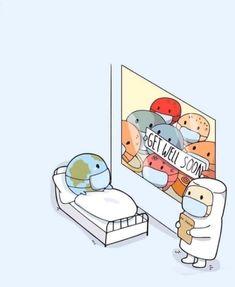 9 of the Best Memes About the Coronavirus (and the Earthquake) Cute Jokes, Cute Puns, Funny Cute, Funny Doodles, Cute Doodles, Cute Comics, Funny Comics, Cute Cartoon Drawings, Cute Stories