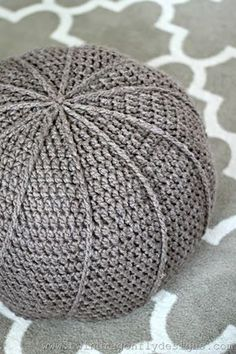 Crochet floor pouf pattern ~ free~