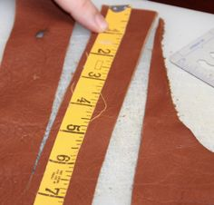 Measure the leather