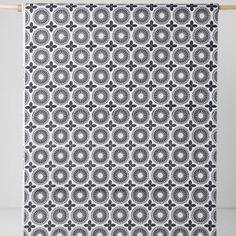 Tablecloth white beige black abstract flowers Floral by Dreamzzzzz