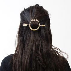 ▪️@almanacforjune▪️ ••• {Artemis Hair Pin in Brass} ••• Almanac for June creates handmade jewelry inspired by all things alchemical, astronomical, astrological, and mythical. • @almanacforjune