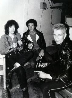 Mick Jones, Bob Gruen and Paul Simonon.