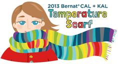Temperature Scarf - what a cool idea for a year long project!