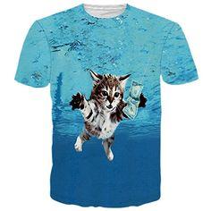 9fb85036f5d Fashion Kitten Cat T Shirts Women Men Tees Killer Laser Kitty T-Shirt Funny  Animal Cat Design Tee Tops Summer Style Dropship