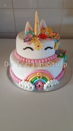 Cake with olives and feta - Clean Eating Snacks Unicorn Cake Design, Unicorn Cakes, Fondant Cakes, Cupcake Cakes, Cake Designs For Girl, 3rd Birthday Cakes, Novelty Cakes, Girl Cakes, Savoury Cake