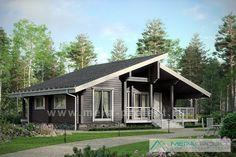 Проект одноэтажного дачного дома - М248