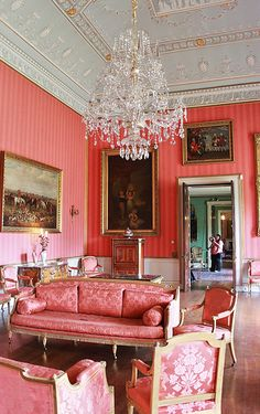The lounge at Shugborough Hall in Staffordshire. The ancestral home to the Earls of Lichfield, the Anson family, since 1624.