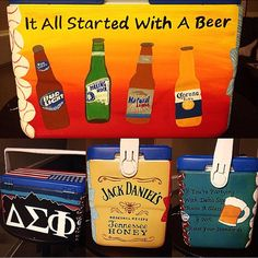 Painted Dela Sigma Phi fraternity cooler