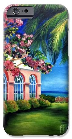 Shelia Kempf iPhone Cases - What A View - Barbados Royal Pavilion - Palm Restaurant iPhone Case by Shelia Kempf