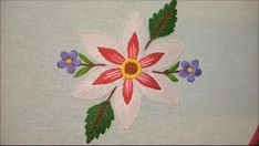 Embroidery Stitches Tutorial, Bead Embroidery Patterns, Flower Embroidery Designs, Embroidery Kits, Beaded Embroidery, Sewing Patterns, How To Embroider Letters, Mexican Embroidery, Butterfly Cross Stitch