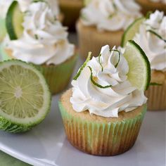 Margarita Cupcakes with Tequila-Lime Buttercream. A fun dessert for Cinco de Mayo!