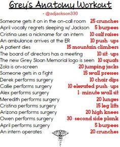 greys anatomy workout - Google Search