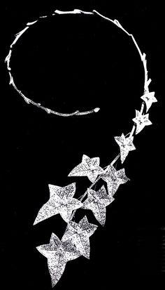Boucheron's unique diamond question mark spring necklaces,  this one designed by head designer Paul Legrand 1882