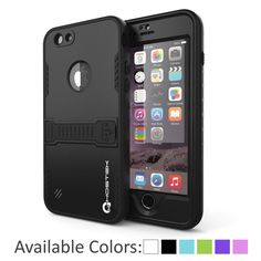 iPhone 6 Plus Waterproof Case, Ghostek Atomic Black Apple iPhone 6 Plus Waterproof Case W/ Attached Screen Protector - Lifetime Warranty - Apple iPhone 6 Plus Slim Fitted Waterproof Shock proof Dust proof Dirt proof Snow proof – punkcase Black Apple, Tablet Phone, Galaxy Note 5, Iphone 6 Cases, Tempered Glass Screen Protector, Apple Iphone 6, Galaxies, Samsung Galaxy, Easy Access