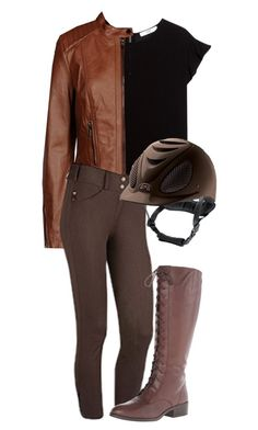 """""""Katniss inspired equestrian outfit"""" by perfecly-equestrian ❤ liked on Polyvore featuring ファッション, MANGO, ESPRIT と Lauren Ralph Lauren"""