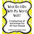 This product provides both literacy centers and activities to be utilized during the word work portion of your literacy block.  They are prefect fo...