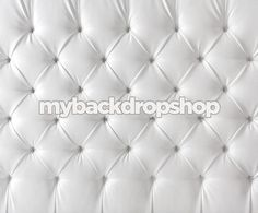 6ft x 5ft Upholstered White Tufted Fabric by MyBackdropShop
