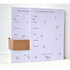50 feuilles A5 semainier étoilé, une semaine par page. Pour organiseur planner A5.   A5 paper planner  http://shirleyzepap.com/papeterie/542-bloc-50-feuilles-a5-semainier-etoile-francais.html