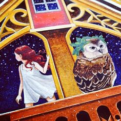 Working on an illustrated version of <Au Hibou Fou> for my exhibition in June. yeah I know the owl is too gigantic :-( #ar -