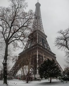 I heard it is getting cold in Paris and it reminded me of that day I went very early in the morning in Paris to take photos of the fresh snow and the Eiffel Tower! Do you guys have snow where you live? #photoserge #eiffel #paris #snow #cold #winter #earlybird #landscape #white