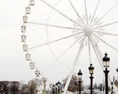 ferris wheel at place de la concorde++ the paris print shop
