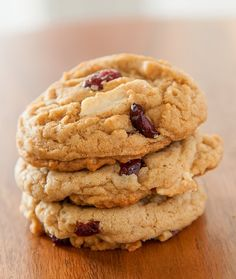 25 Days of Cookies: Cranberry White Chocolate Chunk Cookie Recipe