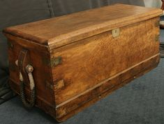 - Camphor Wood Sea Chest with Beckets - Sailor's Brass-Bound Box - Vallejo Maritime Gallery, 18th century marine art, 19th century marine antiques, 19th century marine art, 20th century marine art, Marine art, Maritime paintings.