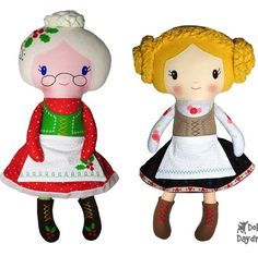 🌲❤ ✂ Meet our NEW Double Dolly Mrs. Claus & Heidi Pattern #dollsanddaydreams pattern! ★★ OUT Today!! ★★ . ❤ Super fun and fast ❤ ✂ Comes in both a #sewingpattern and #machineembroidery #ith pattern as well! Perfect for Christmas in July!!! .   #heidi #mrsclaus #christmasinjuly #xmasinjuly #softtoy #handmadetoy #plushie #plush #plushtoy #handmadeplush #sewingforkids #sewingproject #softies #stuffedtoys #stuffedtoy #sewingforkids #sewingforbaby #stuffies #stuffedanimal #cutie #instakids #kidscr...