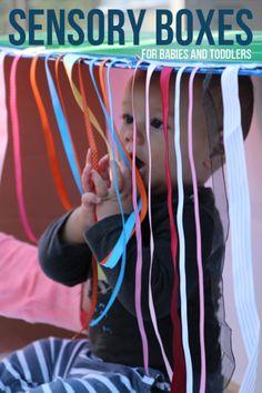 Cajas sensoriales para bebés y niños pequeños - ¿Qué hacer con una caja de cartón
