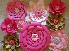 Baby shower decor ready to ship paper flowers https://www.etsy.com/listing/452823152/rts-large-paper-rose-paper-flower-photo