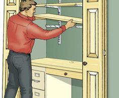 Build a Closet Office - from Popular Mechanics